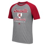 adidas Men's University of Louisville Throwback Raglan T-shirt - view number 1