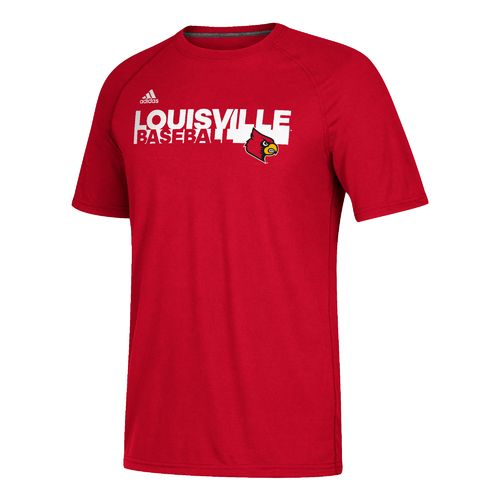 adidas Men's University of Louisville Sideline Baseball Grind Ultimate T-shirt