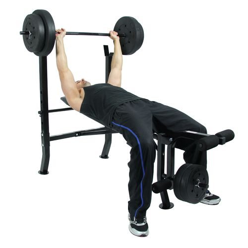 Sunny Health & Fitness 100 lbs Weight/Bench Set - view number 6