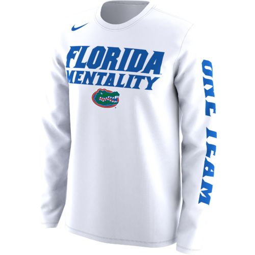 Nike Men's University of Florida Basketball Legend Mentality Bench T-shirt