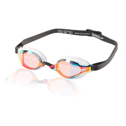 Speedo Adults' Speed Socket 2.0 Mirrored Swim Goggles