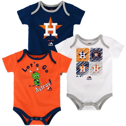 Majestic Infants' Houston Astros Go Team Creepers 3-Pack