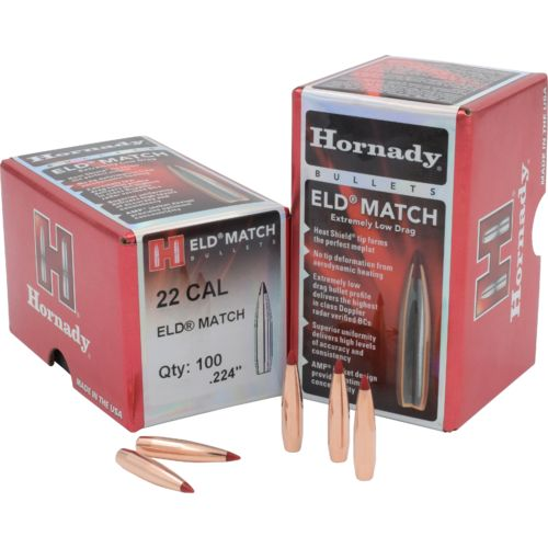 Hornady ELD Match 22 .224 52-Grain Rifle Bullets - view number 1