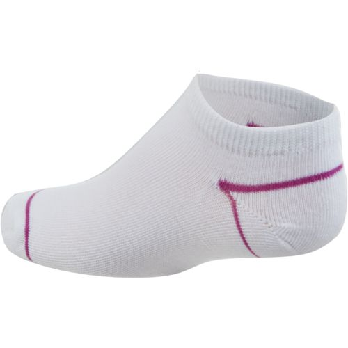 BCG Girls' Color Accent No-Show Socks 6 Pack