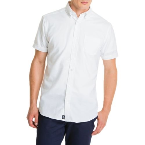 Lee Young Men's Short Sleeve Oxford Shirt