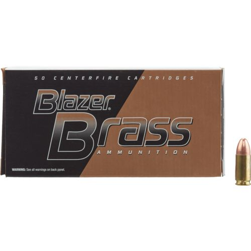 Blazer® Brass 9mm Luger 115-Grain FMJ Centerfire Pistol Ammunition - view number 1