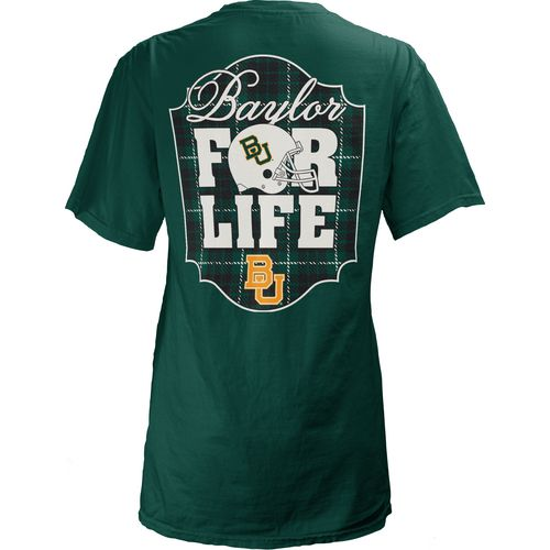 Three Squared Juniors' Baylor University Team For Life Short Sleeve V-neck T-shirt