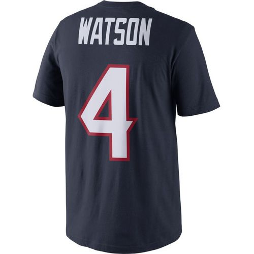 Nike Men's Houston Texans Deshaun Watson 4 Player Pride Name and Number T-shirt
