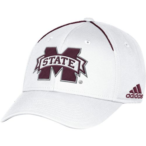 adidas Men's Mississippi State University Coach Structured Flex Cap