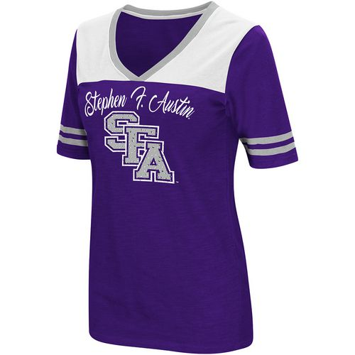 Colosseum Athletics Women's Stephen F. Austin State University Twist 2.1 V-Neck T-shirt