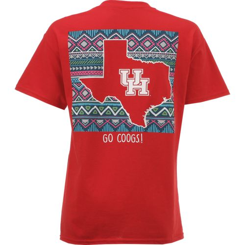 New World Graphics Women's University of Houston Terrain State T-shirt