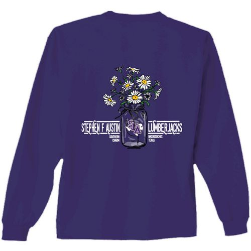 New World Graphics Women's Stephen F. Austin State University Bouquet Long Sleeve T-shirt