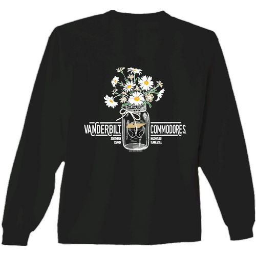 New World Graphics Women's Vanderbilt University Bouquet Long Sleeve T-shirt