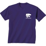 New World Graphics Women's Kansas State University Comfort Color Puff Arch T-shirt - view number 2