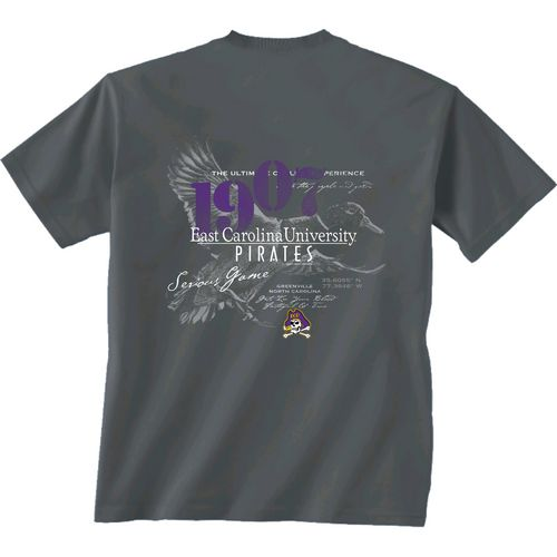New World Graphics Men's East Carolina University In Flight T-shirt