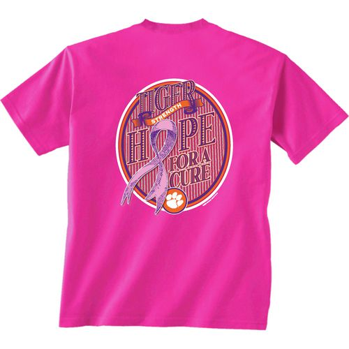 New World Graphics Women's Clemson University Breast Cancer Hope T-shirt