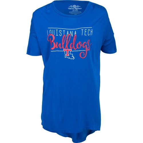 Three Squared Juniors' Louisiana Tech University Script T-shirt