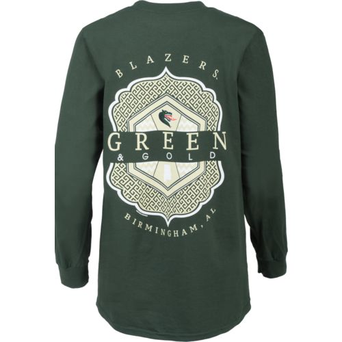 New World Graphics Women's University of Alabama at Birmingham Faux Pocket T-shirt