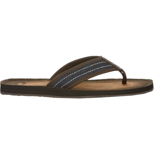 O'Rageous Men's Burnished Denim Flip-Flops
