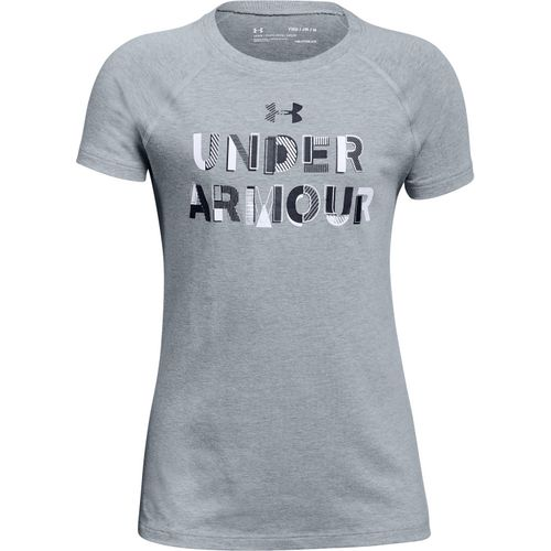 Under Armour Girls' Asymmetric Branded T-shirt