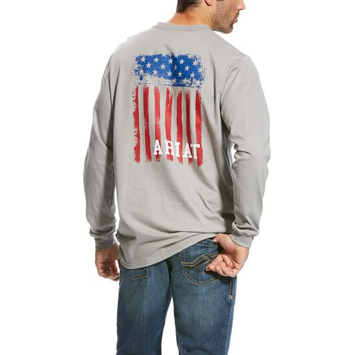 Ariat Men's FR Americana Long Sleeve Graphic T-shirt