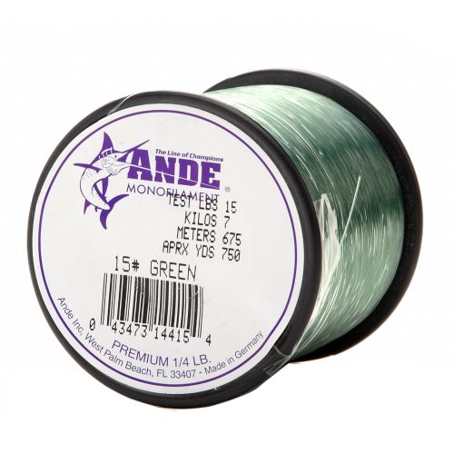 ANDE® Premium 15 lb. - 750 yards Monofilament