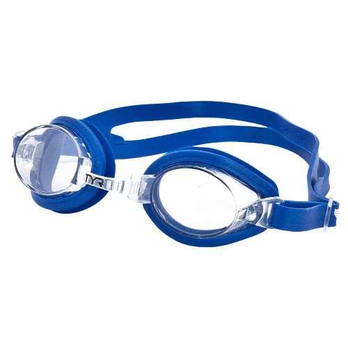 TYR Kids' Qualifier™ Clear/Blue Swim Goggles