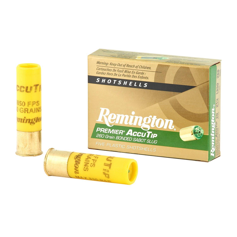 Remington Premier AccuTip 20 Gauge 260-Grain Bonded Sabot Slugs