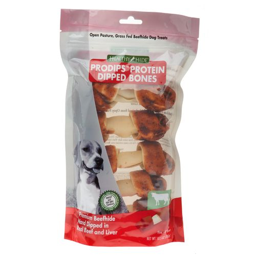 "Healthy Hide Pro-Dips 4"" Beef and Liver Basted Knots 5-Pack"