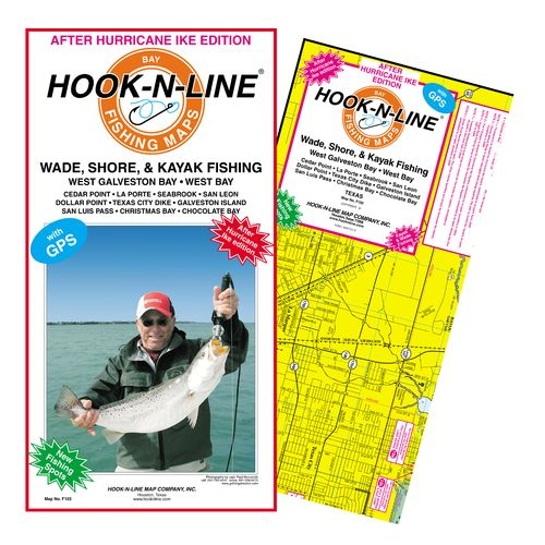 Hook-N-Line West Galveston Bay Area Wade Fishing Map