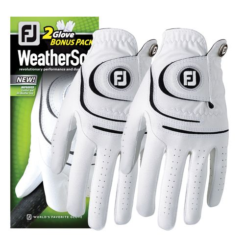 FootJoy Men's WeatherSof® Cadet Left-hand Golf Gloves 2-Pack
