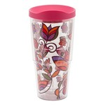 Tervis Molly Z Pink Flowers Wrap 24 oz. Tumbler with Lid