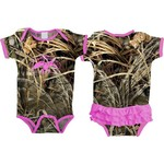 Duck Commander Infant Girls' Ruffle Camo Onesie