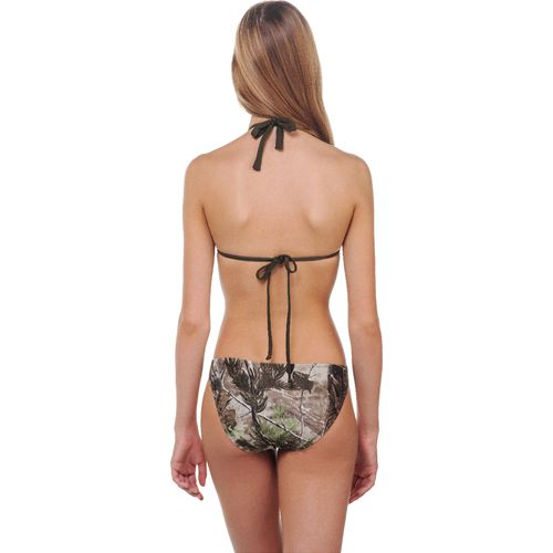 Realtree Juniors' APG Studded Triangle Slider Swim Top - view number 3