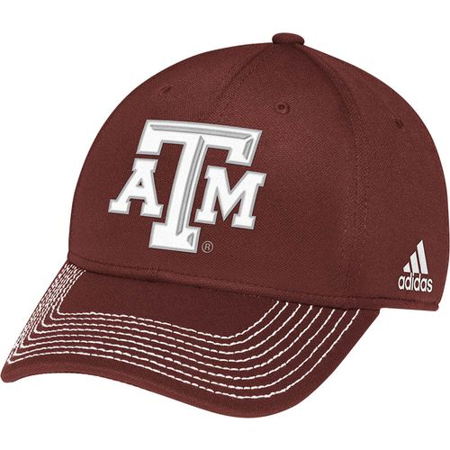 adidas™ Adults' Texas A&M University Wool Pro Shape Flex Fit Cap