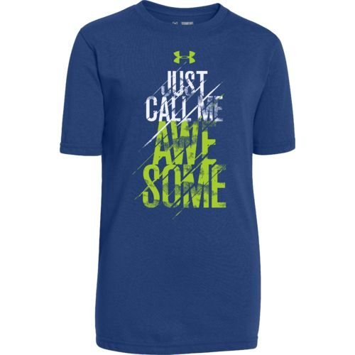 Under Armour Boys 39 Awesome T Shirt Academy