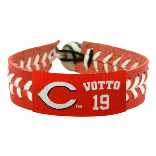 GameWear Adults' Cincinnati Reds Joey Votto #19 Team Jersey Baseball Bracelet
