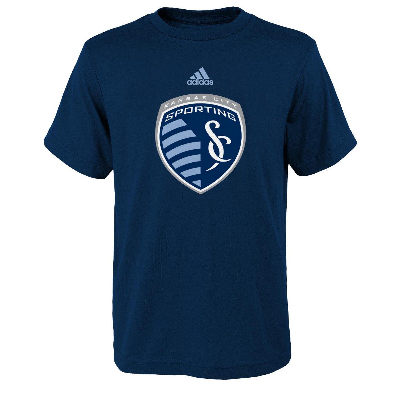 adidas Boys' Sporting Kansas City Team Logo Short Sleeve T-shirt hot sale