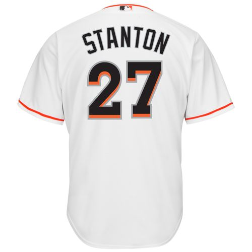 Majestic Men's Miami Marlins Giancarlo Stanton #27 Cool Base® Jersey