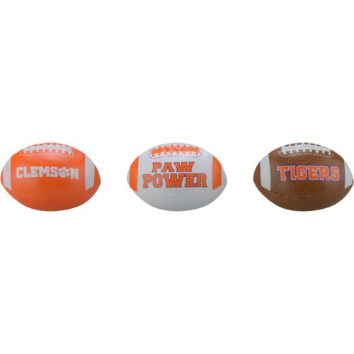 Rawlings® Boys' Clemson University 3rd Down Softee 3-Ball Football Set