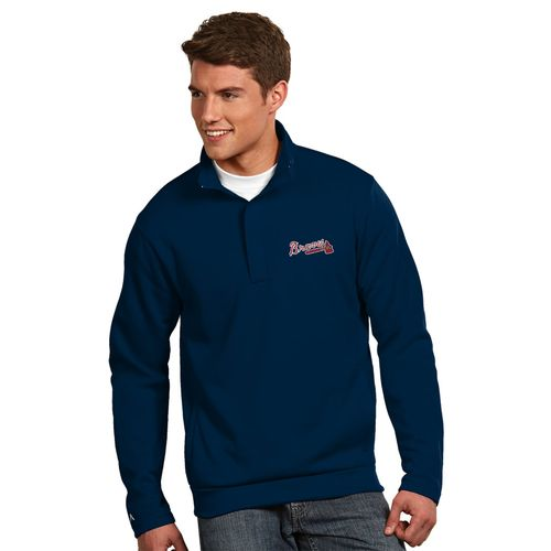 Antigua Men's Atlanta Braves Victor 1/2 Zip Pullover