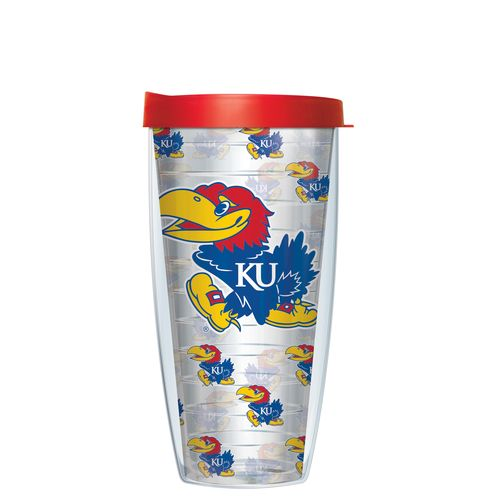 Signature Tumblers University of Kansas 22 oz. Repeated Pattern Traveler Insulated Tumbler