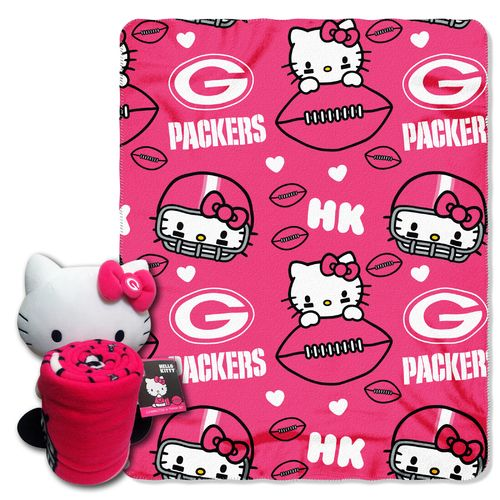 The Northwest Company Green Bay Packers Hello Kitty