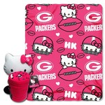 The Northwest Company Green Bay Packers Hello Kitty Hugger and Fleece Throw Set