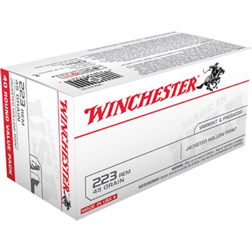 Display product reviews for Winchester Best Value USA .223 Remington/5.56 NATO 45-Grain JHP Centerfire Rifle Ammunition