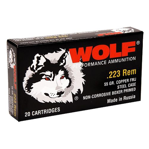 WOLF Performance Ammunition .223 Remington/5.56 NATO 55-Grain Bimetal Jacket Centerfire Rifle Ammuni