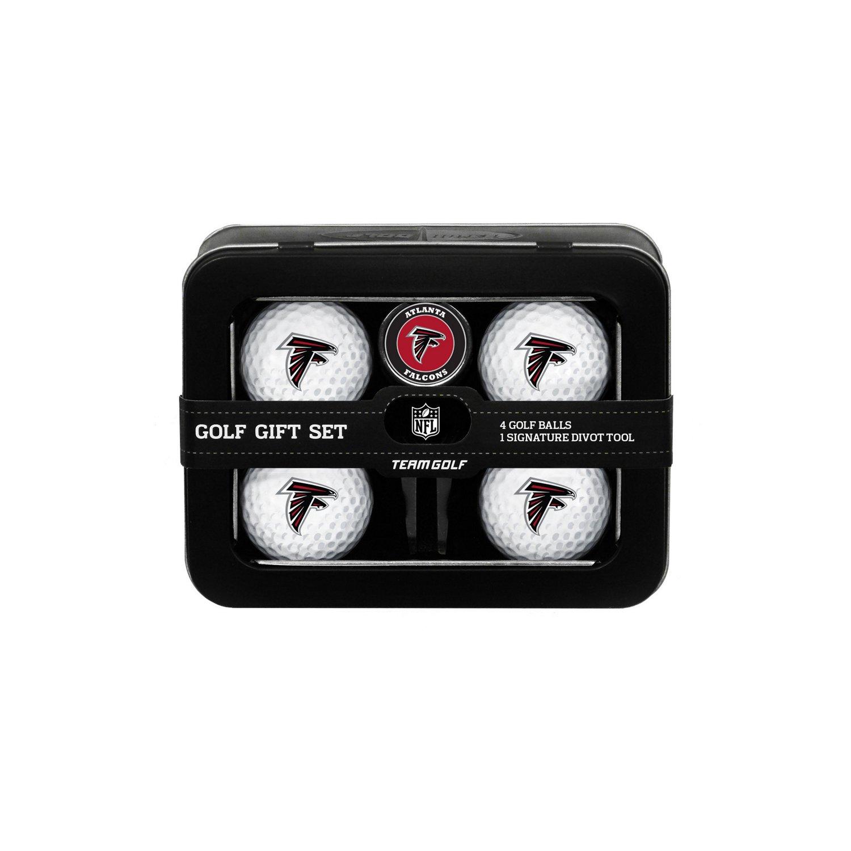 Team Golf Atlanta Falcons 4-Ball Tin Gift Set