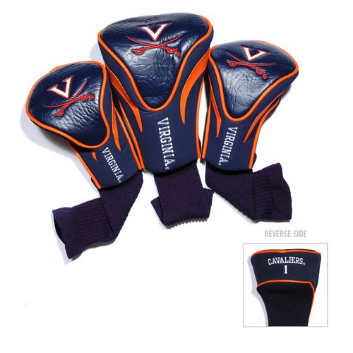 Team Golf University of Virginia Contour Sock Head Covers 3-Pack