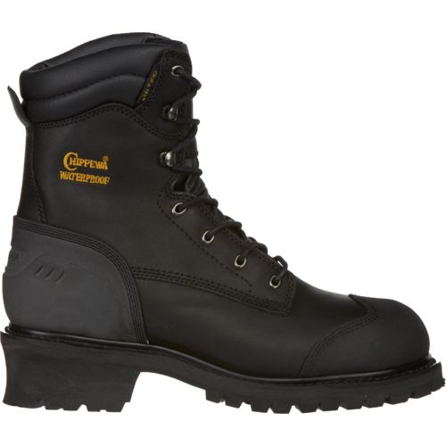 Chippewa Boots Oiled Waterproof Insulated Composition-Toe Logger Rugged Outdoor Boots