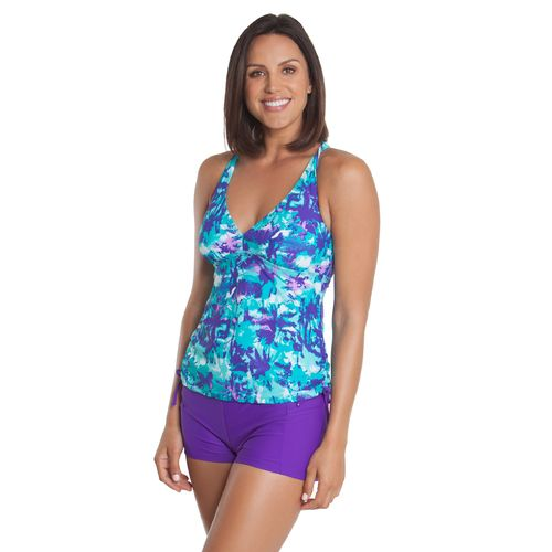 BCG™ Women's Miami Palms Twist Back Tankini Swim
